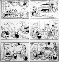 Katie Country Mouse Xmas (Original) (Signed) by Philip Mendoza