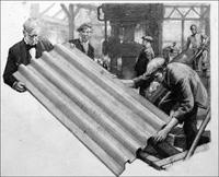 The Invention of Corrugated Iron art by John Millar Watt