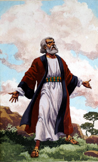 Abraham Before God art by Patrick Nicolle