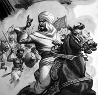 Al-Mahdi and the Siege of Khartoum art by Patrick Nicolle