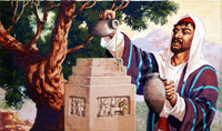 Moses Anoints the Tabernacle art by Patrick Nicolle