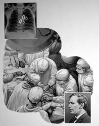 Christiaan Barnard art by Patrick Nicolle