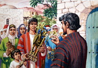 Jacob and the Family Idols art by Patrick Nicolle