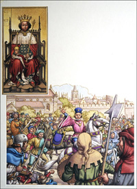 King Richard II and the Peasants Revolt art by Patrick Nicolle