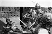 Death of Sennacherib. art by Patrick Nicolle
