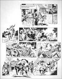 Robin of Sherwood - Marion in Peril (TWO pages) art by Mike Noble
