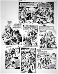 Robin of Sherwood - Fight Amongst Friends (TWO pages) art by Mike Noble