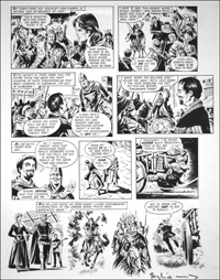 Robin of Sherwood - Romance (TWO pages) art by Mike Noble