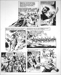 Robin of Sherwood - Going Somewhere (TWO pages) art by Mike Noble