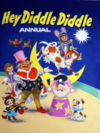 Hey Diddle Diddle - Book Cover art by William Francis Phillipps