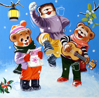 Teddy Bear - Christmas Celebrations art by William Francis Phillipps
