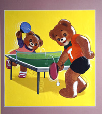 Teddy's Table Tennis art by William Francis Phillipps