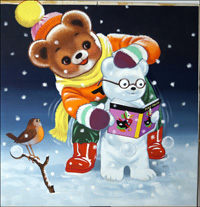 Teddy Bear - Snow Bear art by William Francis Phillipps