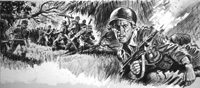 Ambush in Viet Nam art by Edwin Phillips