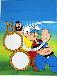 Popeye & Bluto art by 20th Century unidentified artist