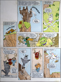 Danger Mouse - High Castle (TWO pages) art by Arthur Ranson