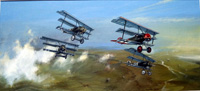 Richthofen's Fokker Dr1 Triplane art by Michael Roffe