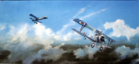 Billy Bishop Air Ace and his Nieuport Type 17 art by Michael Roffe