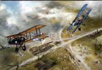 Richthofen's Air Duel art by Michael Roffe