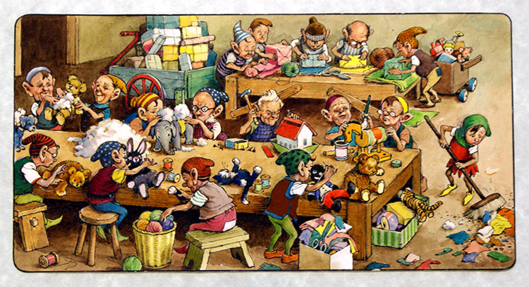 Santa's Little Helpers (Original) by Geoff Squire at The Illustration ...