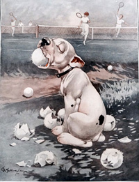 Bonzo the Dog: The Ball Boy art by George E Studdy