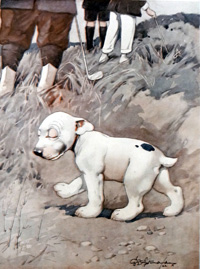 Bonzo the Dog: Lost Ball art by George E Studdy
