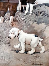 Bonzo the Dog: Lost Ball art by George E Studdy