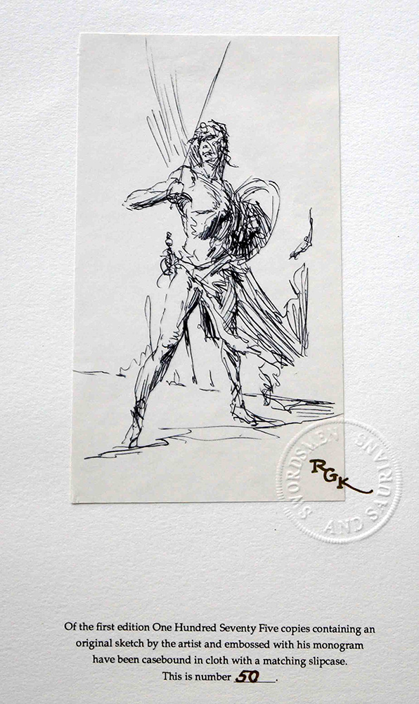 Unique personal sketch by Krenkel, Signed and Numbered (click for bigger picture)
