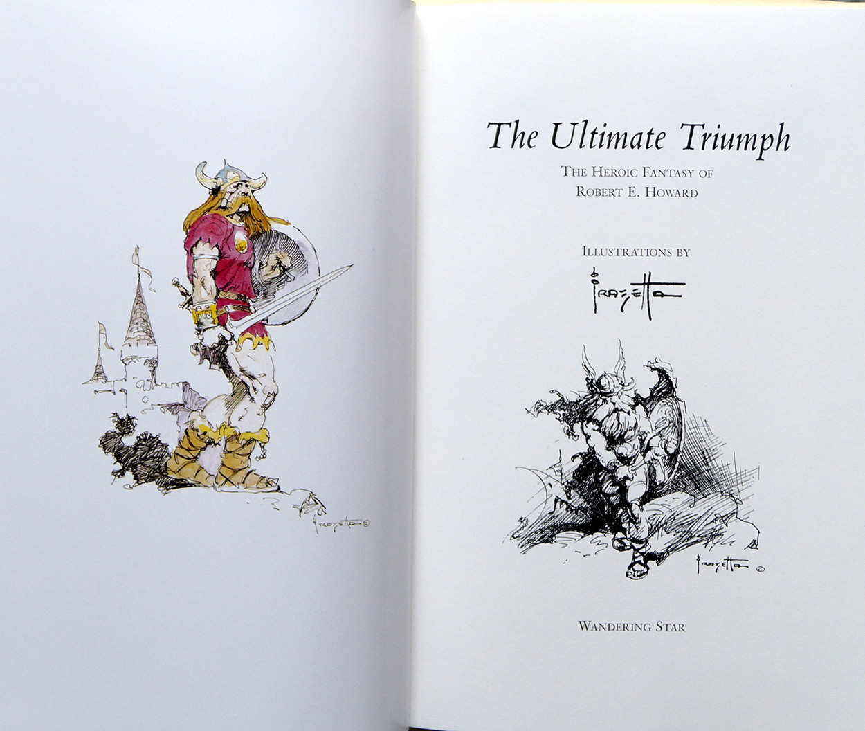 Title page and Frazetta illustrations (click for bigger picture)