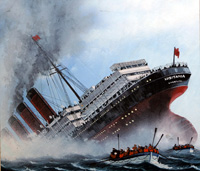 The Sinking of the Lusitania art by Mike Tregenza