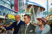 King George VI and the Festival of Britain art by Clive Uptton