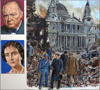The Blitz art by Clive Uptton