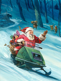 20th Century Santa (Original) by Gerry Wood