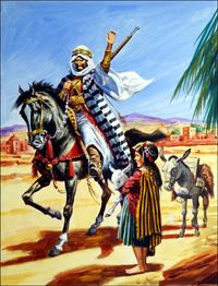 Arab Warrior art by Gerry Wood