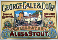 George Gale hand painted Brewery sign art by 20th Century unidentified artist
