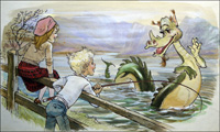 Catching the Loch Ness Monster art by 20th Century unidentified artist