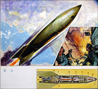 V2 Rocket - The Blitz art by 20th Century unidentified artist