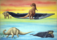 How Big Were the Dinosaurs art by 20th Century unidentified artist
