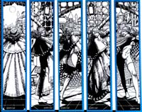 Moon & Stars Bookmarks (Blue - Valeria) by Barry Windsor Smith