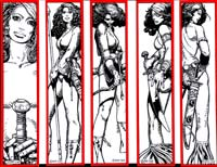 Moon & Stars Bookmarks (Red Sonja) by Barry Windsor Smith