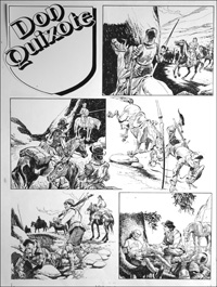 Don Quixote - Meets Sancho Panza (TWO pages) art