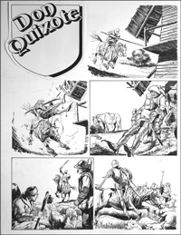Don Quixote - Windmills (TWO pages) art