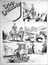 Don Quixote - Goes Over the Edge (TWO pages) art by Bill Baker