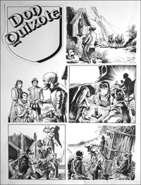 Don Quixote - Caged (TWO pages) art by Bill Baker