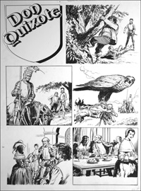 Don Quixote - Duped by Friends (TWO pages)