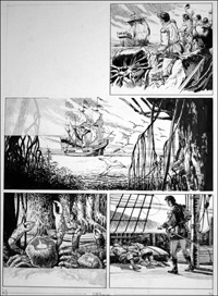 Westward Ho! - Stockade (TWO pages) art by Bill Baker