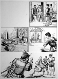 The Prince and the Pauper - City Life (TWO pages) art by Bill Baker