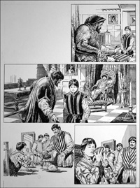 The Prince and the Pauper - Henry VIII (TWO pages) art by Bill Baker