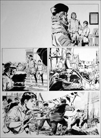 The Prince and the Pauper - Procession (TWO pages) art by Bill Baker