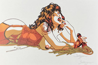 The Amber Tigress art by Roberto Baldazzini